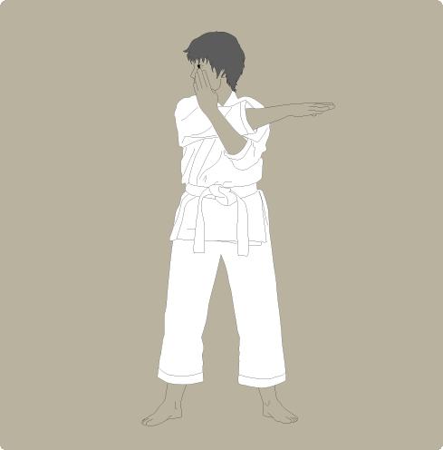karate warmup arm stretch